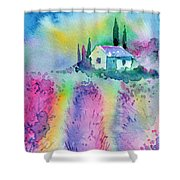 The House By The Lavender Field Shower Curtain