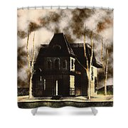The House From Psycho Shower Curtain
