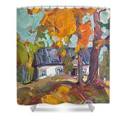The House In Chervonka Village Shower Curtain