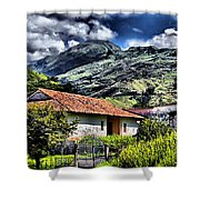 The House In The Valley Shower Curtain
