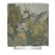 The House Of Dr Gachet In Auvers Sur Oise Shower Curtain