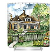 The House On Spring Lane Shower Curtain