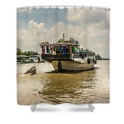 The Houseboat Shower Curtain