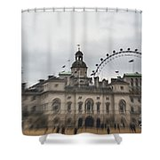 The Household Cavalry Museum Abstract London Abstract Shower Curtain