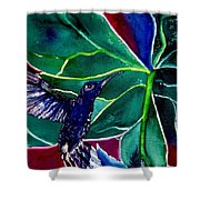 The Hummingbird And The Trillium Shower Curtain