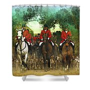 The Hunt Begins Shower Curtain