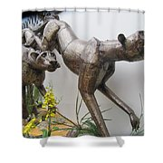 The Hunt Is On . Shower Curtain