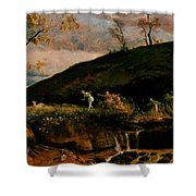 The Hunt Of Diana 1896 Shower Curtain