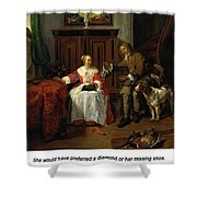 The Hunter's Present Shower Curtain