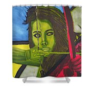 The Huntress Shower Curtain