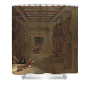 The Hypostyle Hall Of The Great Temple At Abu Simbel Egypt Shower Curtain