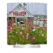 The Ice Cream Store On Bearskin Neck Shower Curtain