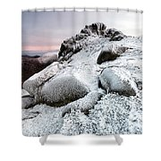 The Ice Queen Returns, North Tor Slieve Bearnagh Shower Curtain