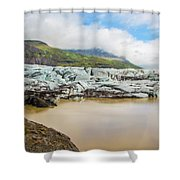 The Ice Wall Iceland Shower Curtain
