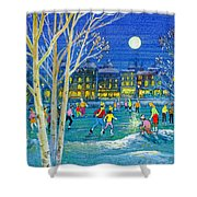 The Iceskaters Shower Curtain