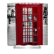The Iconic London Phonebox Shower Curtain
