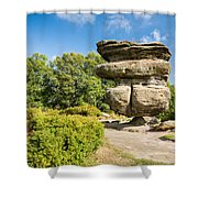 The Idol Rock In Perspective Shower Curtain