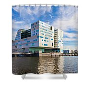 The Ij-dock In Amsterdam  Shower Curtain