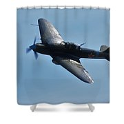 The Ilyushin Il-2 In Flight Shower Curtain