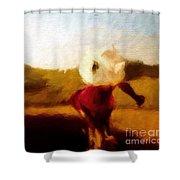 The Impressionist Iris Shower Curtain