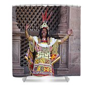 The Inca At Inti Raymi Shower Curtain