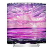 The Incredible Journey - Purple Sunset Shower Curtain