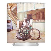 The Indian Tendor-coconut Vendor Shower Curtain