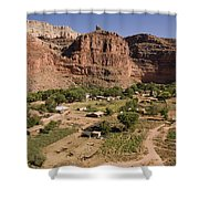 The Indian Village Of Supai Sits Shower Curtain