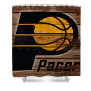 The Indiana Pacers 3b Shower Curtain