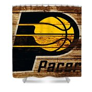 The Indiana Pacers 3c Shower Curtain