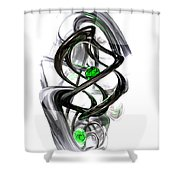 The Inkwell Abstract Shower Curtain