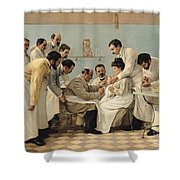 The Insertion Of A Tube Shower Curtain by Georges Chicotot