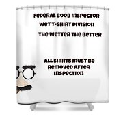 The Inspector  Shower Curtain