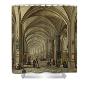 The Interior Of A Gothic Church Looking East   Shower Curtain