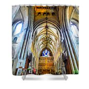 The Interior Of The Southwark Cathedral  Shower Curtain