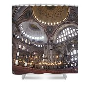 The Interior Of The Suleymaniye Mosque Shower Curtain