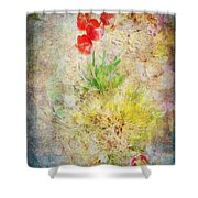 The Introverted Tulip Shower Curtain