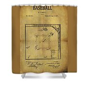 The Invention Of Baseball Shower Curtain