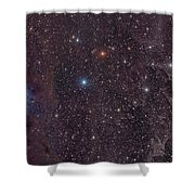 The Iris Nebula In Cepheus Shower Curtain by John Davis
