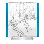 The Irish Dance. Shower Curtain