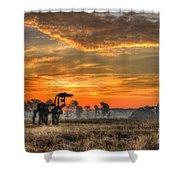 The Iron Horse 517 Sunrise Shower Curtain