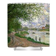 The Island Of La Grande Jatte Shower Curtain by Claude Monet