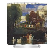 The Island Of Life 1888 Shower Curtain