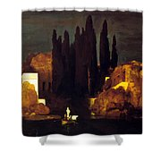 The Isle Of The Dead 1880 Shower Curtain