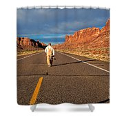The Itinerant Photographer Shower Curtain