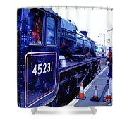 The Jacobite At Mallaig Station Platform 2 Shower Curtain