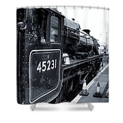The Jacobite At Mallaig Station Platform 3 Shower Curtain