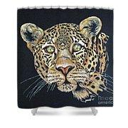 The Jaguar - Acrylic Painting Shower Curtain