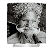 The Jain Man Shower Curtain