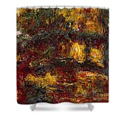 The Japanese Footbridge - Giverny Shower Curtain
